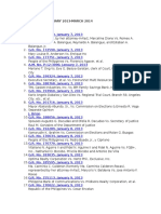 Case List (Jan 2013-March 2014)