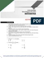 Download soal dan Pembahasan UN SMP Matematika 2011-2012