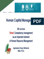 HCM 5 Lecture E-Students