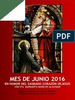 MES DE JUNIO 2016 EN HONOR DEL SAGRADO CORAZÓN DE JESÚS CON STA. MARGARÍTA MARÍA DE ALACOQUE