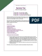 ServiceTax & GST-July 2016