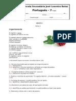 Ficha de valiação -Poesia