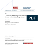 Conversion of AS1085.14 for prestressed concrete