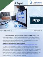 Global Metal Filter Market Research Report 2016