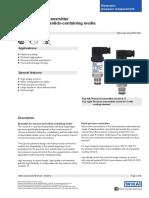 Pressure Sensor (Bottle & Vacuum)