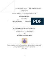 A Project Report on Cost Reduction in Melting- A SQC and Six Sigma Approach