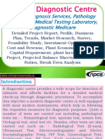 Medical Diagnostic Centre, Medical diagnosis Services, Pathology Laboratory, Medical Testing Laboratory, Diagnostic Medicare - Detailed Project Report, Profile, Business Plan, Trends, Market Research, Survey, Feasibility Study, Investment Opportunities, Cost and Revenue, Plant Economics, Working Capital Requirement, plant layout,  Cost of Project, Projected Balance Sheets, Profitability Ratios, Break Even Analysis