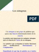 SINTAGMAS_Lengua española