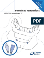 Attachment-retained Restorations ASTRA TECH Implant System EV