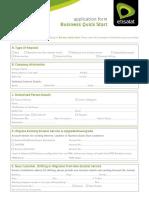 Businessquickstart Application Form