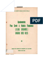 MELLO Carl Egbert H. v. de. Apontamentos Para Ser Ir à História Fluminense