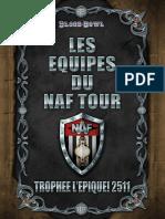 Livret des équipes du NAF Tour - Trophee l'Epique! 2511