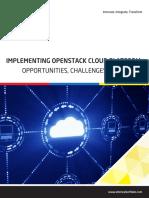 Implementing Openstack Cloud Platform