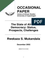 Mukandala_2002, Democratic Consolidation