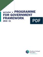Draft Programme for Government Framework (2016-2021)