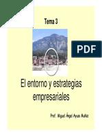 Tema 3. Entorno y Estrategias Empresariales1