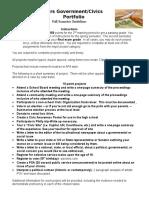 civic participation portfolio fall