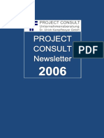 [DE] PROJECT CONSULT Newsletter 2006 | PROJECT CONSULT Unternehmensberatung Dr. Ulrich Kampffmeyer GmbH | Hamburg | Kompletter Jahrgang 2006