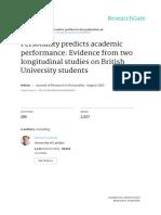 Personality Academic Performance
