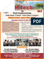 Admission open for M.tech 2016 in Civil Engineering - The Northcap University Gurgaon