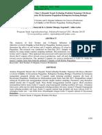 The Analysis of Soil Texture and C-Organic Influence for Cassava Production (Manihot esculenta Crantz.) at Sub District Pegajahan, Serdang Regency