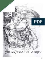 R E G E S T A Franjevačkog arhiva u Mostaru 1446-1862