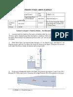 UEME2123 Fluid Mechanics Tutorial 2