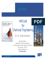 Matlab for Che Intro