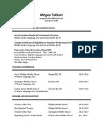 megan tolbert resume 2016