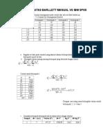 Uji Homogenitas Barllett Manual vs Ibm Spss