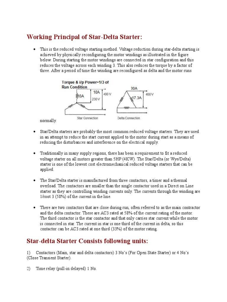 Star Delta Motor Control Power Circuit The Main Circuit Breaker Serves
