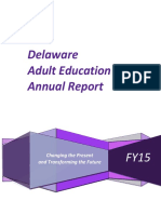 FY15 Adult Education Annual Report