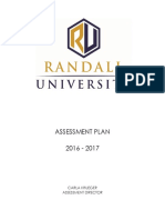 Randall Assessment Plan 2016-2017