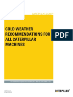 Cold Weather Recommendations for All Machines