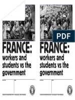France Workers and Students vs Gov Swp