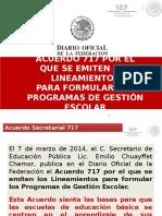 Autonomia Escolar. Acuerdo 717