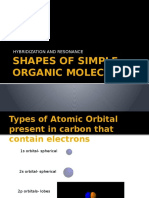 Shapes of Simple Organic Molecules