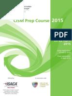 Cism Preparation Course 2015