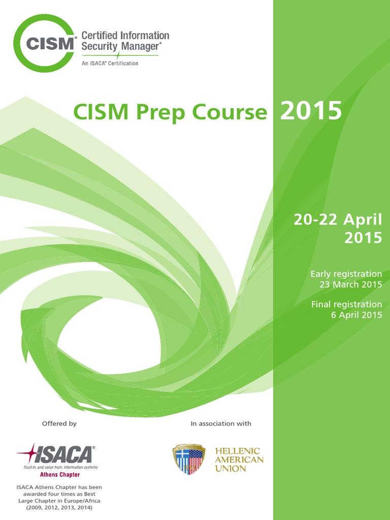 Cism Preparation Course 2015 | Information Security | Business Continuity