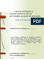 Importancia Ecológica y Socioeconómica de Los