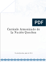 Curriculo armonizado de la Nacion Quechua