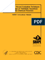 Application of Hazards Evaluation Techniques to the Design CHemical Process