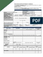 Formulario Antecedentes Personales y Laborales