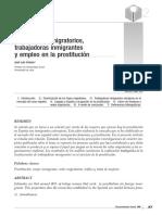 Movimientos Migratorios, Trabajadoras Inmigrantes y Empleo en La Prostitución