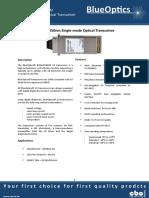 BlueOptics BO32J15240D 10GBASE-ER X2 Transceiver 1550nm 40 Kilometer Singlemode SC-Duplex 10 Gigabit