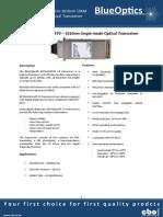 BlueOptics BO76JXX210D 10GBASE-CWDM X2 Transceiver 1271nm-1451nm 10KM Singlemode SC Duplex 10 Gigabit