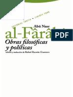 Alfarabi - Obras Filosoficas Y Politicas