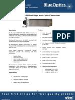 BlueOptics BO33J15240D 10GBASE-ER XENPAK Transceiver 1550nm 40 Kilometer Singlemode SC-Duplex 10 Gigabit