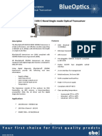 BlueOptics BO87JXX280D 10GBASE-DWDM XENPAK Transceiver C-Band 80 Kilometer Singlemode SC-Duplex 10 Gigabit