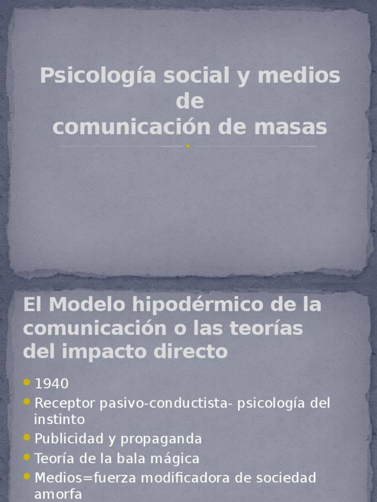 Psicología Social y Medios de Comunicacion